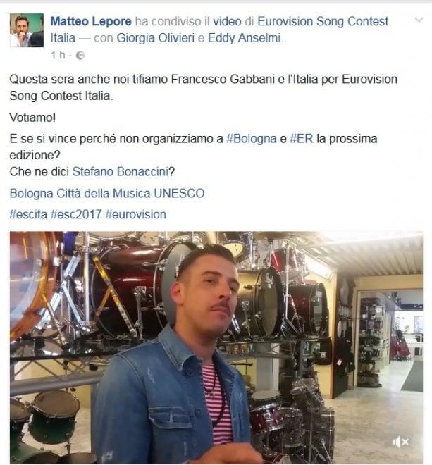 """Eurovision Song Contest, Lepore sogna: """"Prossima edizione a Bologna?"""""""