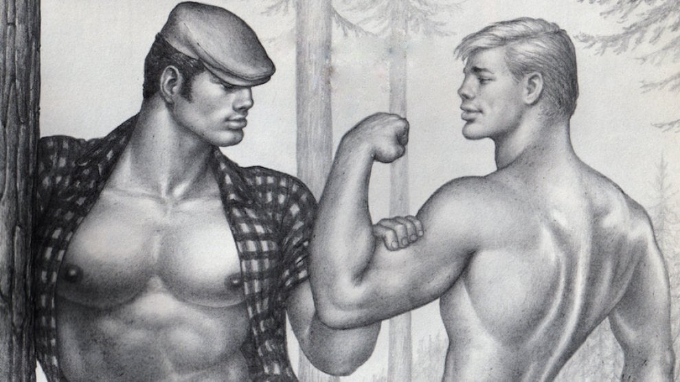 """Tracciò l'immaginario gay: i fisici scolpiti di """"Tom of Finland"""" in mostra a Bologna"""