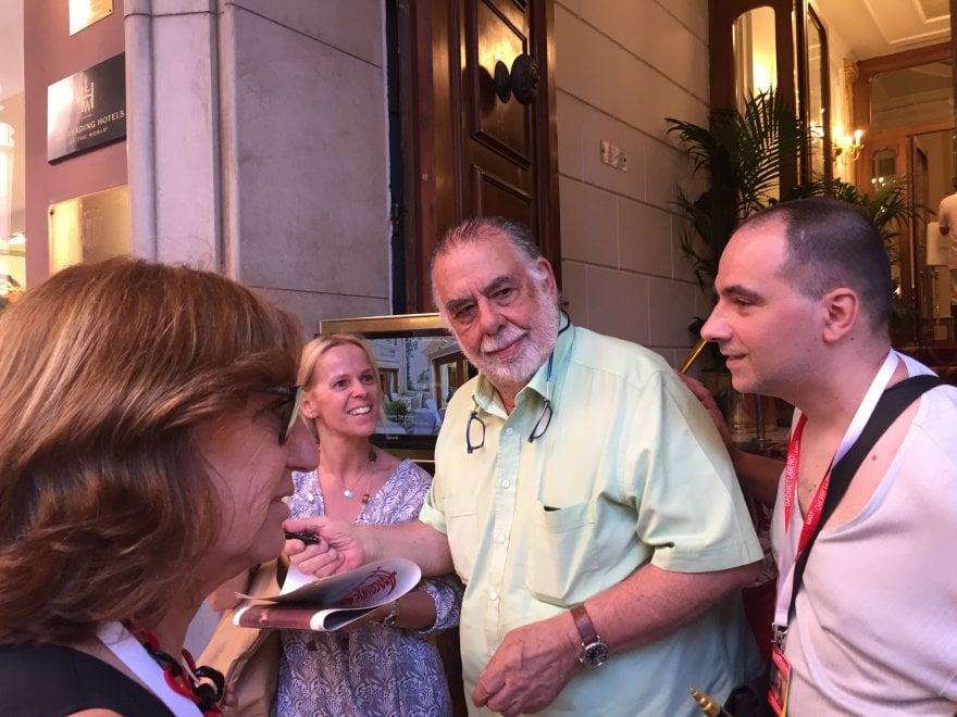 Francis Ford Coppola a spasso per Bologna