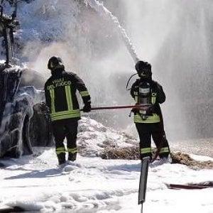 Bazzano, a fuoco tre case