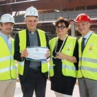 Il vescovo di Bologna Zuppi visita i cantieri di Fico