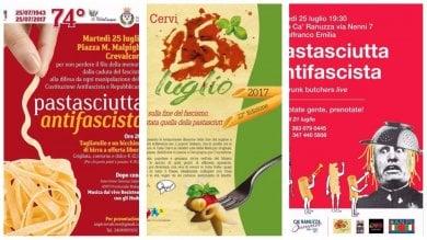 Da Casa Cervi a Colle Ameno  mappa  le pastasciutte antifasciste del 25 luglio
