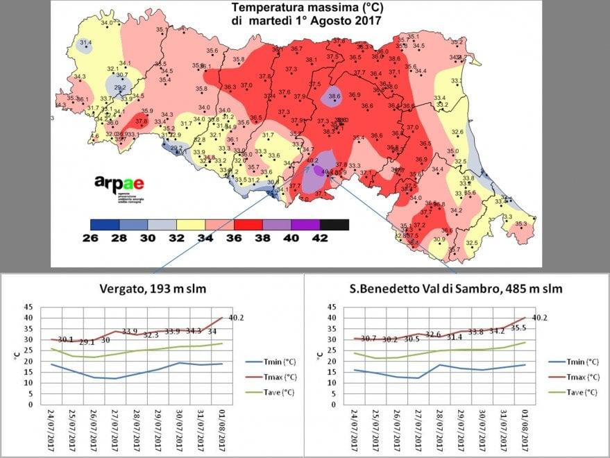 Allarme caldo in Emilia-Romagna: le mappe di agosto