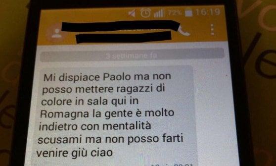 """""""Mi spiace, qui un nero non può lavorare in sala"""": Paolo, rifiutato da un albergo di Cervia"""