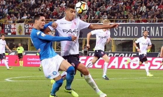 Il Napoli si diverte sempre a Bolognaland, ma stavolta lo 0-3 è bugiardo