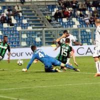 Colpo grosso del baby Okwonwko, Sassuolo-Bologna 0-1