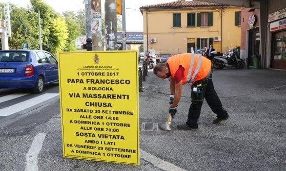 Papa Francesco a Bologna: il vademecum sul traffico fra strade chiuse e autobus deviati