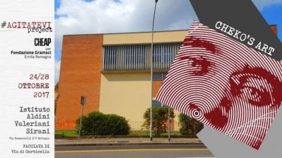 """""""Agitatevi"""": il volto di Gramsci sulla facciata di una scuola di Bologna"""