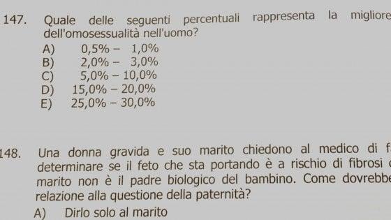 """Il presidente di Arcigay Bologna: """"Quella domanda nel test di medicina? Toglierla è una sconfitta"""""""