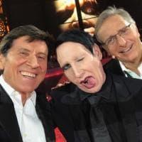 """Gianni Morandi con Marilyn Manson, che coppia: """"Mi sembra sereno e tranquillo..."""""""