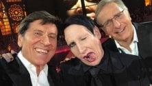"""Gianni Morandi, selfie con Marilyn Manson """"Mi pare uno sereno..."""""""