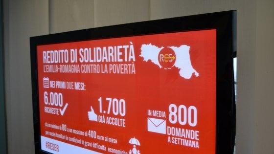 Reddito di solidarietà dell'Emilia-Romagna, 115 domande al giorno