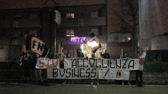 Carpi, Forza Nuova protesta sotto casa dell'assessore