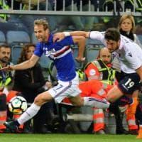 Bologna beffato al 93' da Zapata, vince la Samp: 1-0