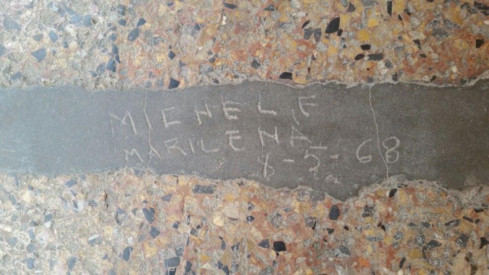 Che fine hanno fatto Michele e Marilena? Cinquant'anni fa il loro graffito in via Santo Stefano