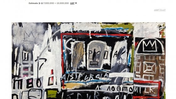 Da Sotheby's all'asta un Basquiat mai visto prima d'ora fuori dall'Italia