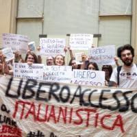 Ateneo Bologna, protesta contro il numero chiuso a Italianistica