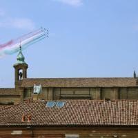 """Lugo, Frecce tricolori per il centenario della morte di Francesco Baracca. Mattarella: """"L'asso degli assi dell'aviazione italiana"""""""