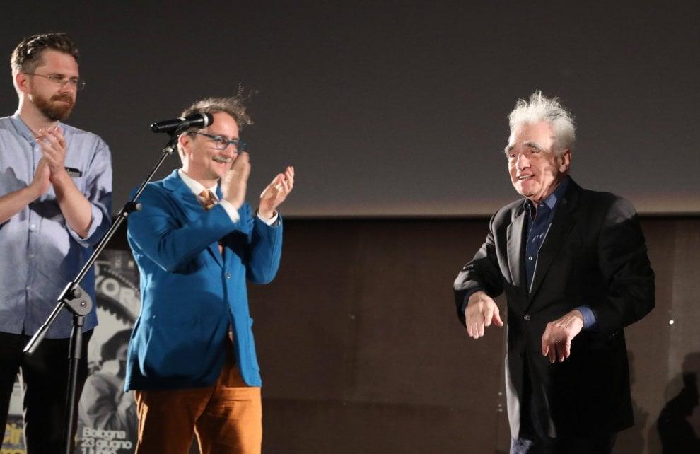 """Bologna, la grande notte di Martin Scorsese nella piazza del cinema: """"Il mio Toro Scatenato"""""""