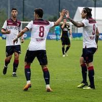 Bologna, nove gol al Comano. Orsolini ne fa tre