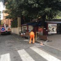 Bologna, addio alle panchine di porta San Vitale