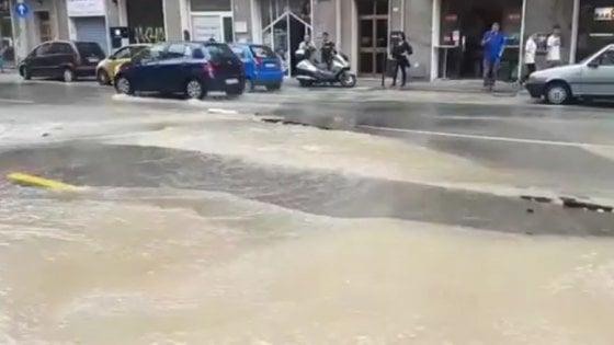 Bologna, si rompe tubo in strada: trenta famiglie senz'acqua