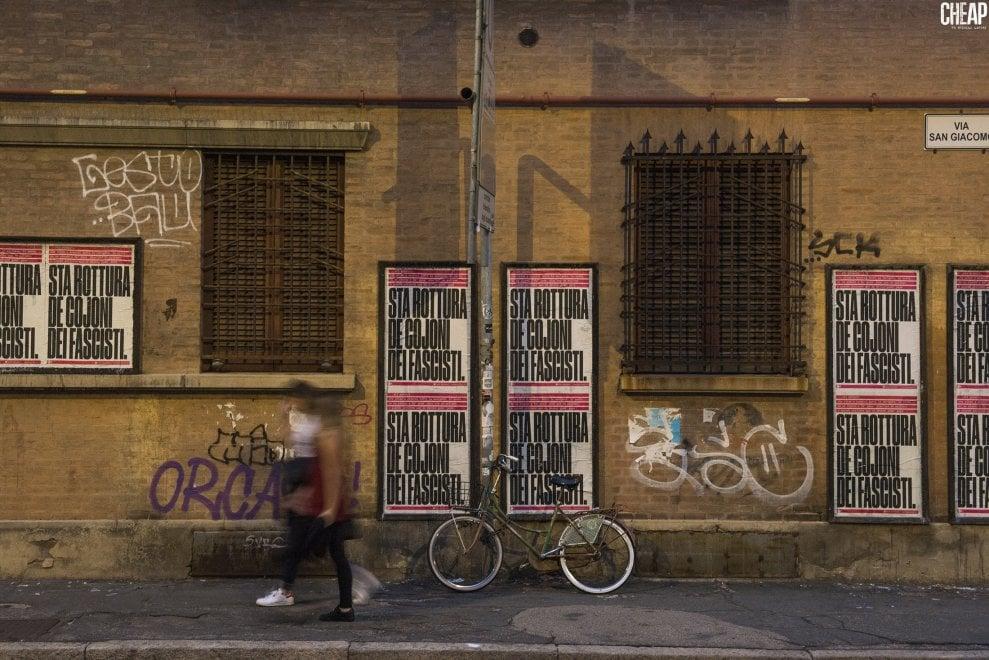 """""""Sta rottura de c... dei fascisti"""": lo sfogo di Ivano contro Casapound diventa denuncia sui muri di Bologna"""