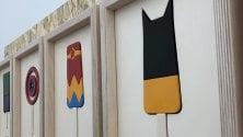 Se Batman fosse  uno stecco  Foto  le opere di Cut  al Gelato museum