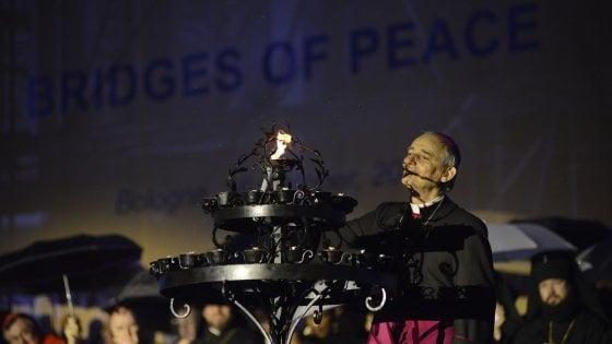 """Da Bologna un ponte per la pace: """"La guerra è contro l"""
