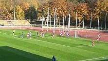 Il gol di Corbo (Bologna) in Italia-Danimarca U.19