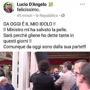 """Bologna, ex sindaco Pd """"salvato"""" da Toninelli lo invita al suo paese"""