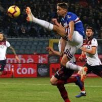 La Sampdoria umilia il Bologna, Inzaghi rischia: 4-1. Squadra in ritiro