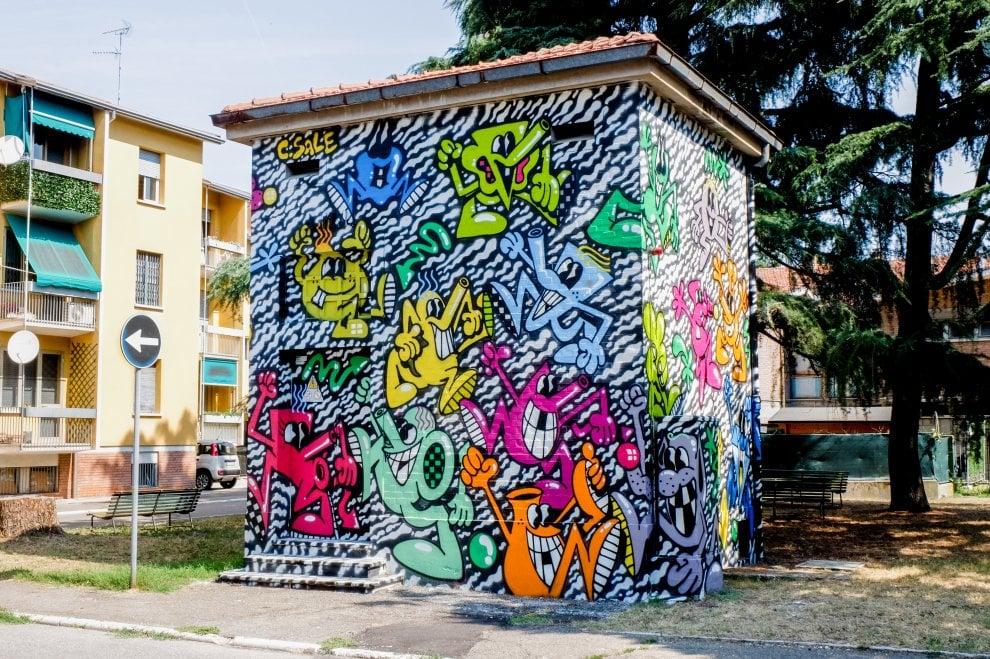 Imola, le cabine elettriche diventano una galleria d'arte a cielo aperto