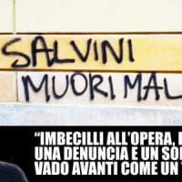 Scritta a Modena contro Salvini. Il ministro: