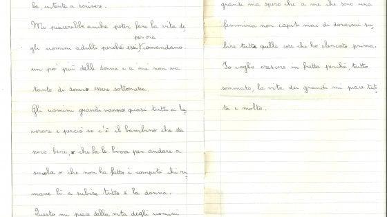 """Bologna, la prof regala ai suoi studenti un tema scritto quando era bambina: """"Se fossi uomo non sarei mai sottomessa"""""""
