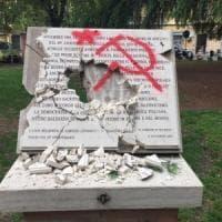 Danneggiata la lapide per i partigiani della Bolognina
