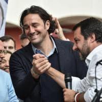 Modena, Luca Toni sul palco con Salvini