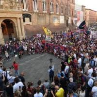 Lo scatto del Bologna alla fontana del Nettuno: