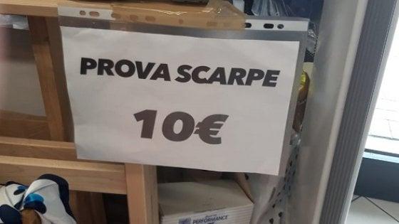 new style d30d6 9d9f3 Vuoi provare le scarpe? Paga 10 euro