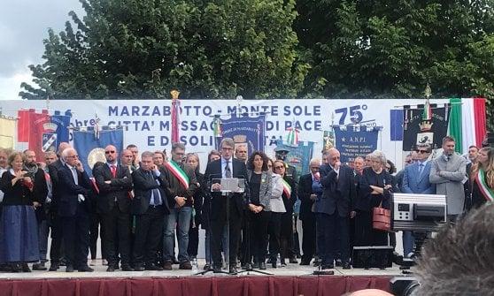 """Sassoli a Marzabotto: """"Gli europarlamentari vengano qui dov'è nata l'Europa. Nazismo e comunismo non sono uguali, nessun revisionismo"""""""