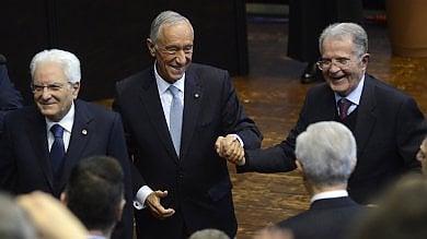 """Il presidente del Portogallo e l'elogio dell'Alma Mater: """"Ha ispirato tutti"""""""