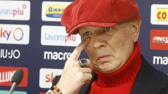 """Sinisa Mihajlovic, lacrime e rabbia. """"Ora ci sarò di più, ma i giocatori devono dare il 200%"""""""