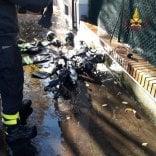 Incendio in un appartamento  muore il cane di famiglia