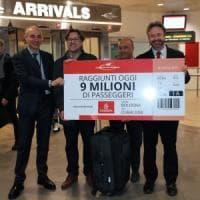 Bologna, l'aeroporto Marconi supera per la prima volta i 9 milioni di passeggeri