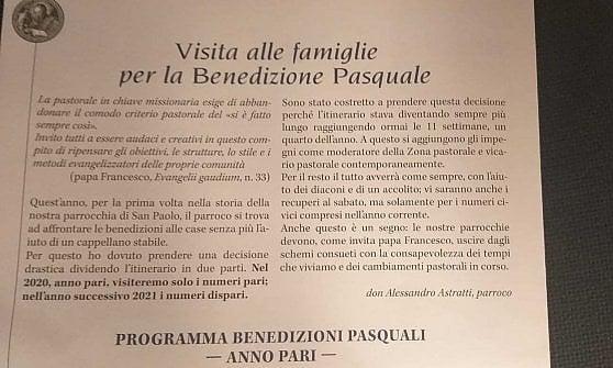 """Bologna, manca un cappellano. E la chiesa inventa la benedizione ad anni alterni: """"Passiamo nel 2021"""""""