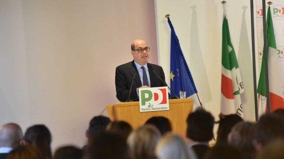 """Congresso Pd, Zingaretti: """"In Emilia Romagna abbiamo vinto grazie alle Sardine"""""""
