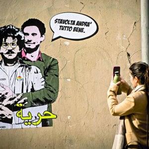 """Cancellato il  murales di Zaky e Regeni: """"Faceva paura?"""""""