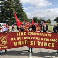 Pontecchio Marconi, il corteo dei lavoratori Fiac in difesa del loro futuro