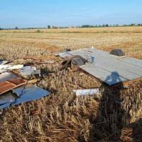I danni nel Ferrarese causati dalla furia del vento e dalla grandine