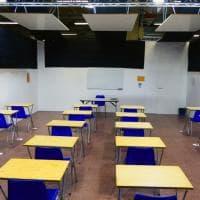 Bologna, installati i pannelli fonoassorbenti per le classi che vanno a scuola in Fiera